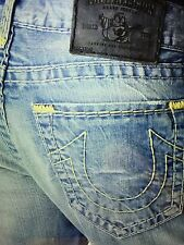 TRUE RELIGION GENO SLIM ST SUPER T MEN JEAN BFZM PACIFIC PLM NWT 36W RETAIL $328