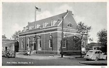 BURLINGTON NEW JERSEY POST OFFICE CURTEICH PHOTO-FINISH POSTCARD 1940s