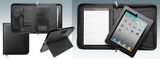 Leather iPad Case/ Executive Conference Portfolio Folder/Detachable ipad holder