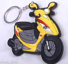 Scooter Moped Vespa Yellow Keyring Keyfob Chain Ring Motorbike Engine Exhaust 3D