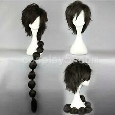 MAGI Judal Black Anime Flip Out 95cm ex Long Ponytail Party wigs Cosplay Wig