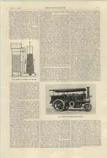 1921 National Gas Producer Section Foden Chain Driven Steam Tractor