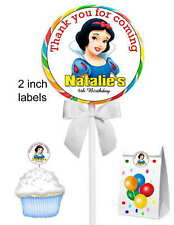 40 SNOW WHITE BIRTHDAY PARTY LOLLIPOP STICKERS ~ goody bags, env seals
