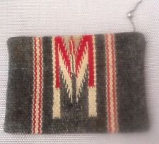 Vintage 1940's Chimayo Zippered Purse hand woven/hand tailored by Ganscraft.