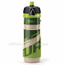New ELITE Turacio Cork Insulating Panel 3-Hour Thermal Water Bottle 500ml, Green