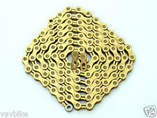 2016 KMC X9L XXSP Bike Chain 9-Speed 114 Links Ti Nitride Gold
