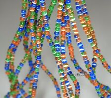 2.5MM  CAT EYE'S  GEMSTONE RAINBOW  ROUND 2.5MM LOOSE BEADS 15.5""