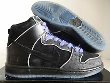 NIKE DUNK HIGH ELITE SB BLACK-BLACK-WHITE-PURPLE HAZE SZ 10 [833456-002]