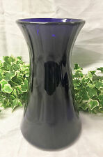"Beautiful Bristol Cobalt Blue Antique Large 10"" Art Glass Flower Vase"