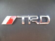 TRD Badge Emblem Sticker  Metal Silver Logo fits Toyota 3D Yaris Corolla S120