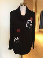 Latte Jumper Size 10 BNWT Black Cream Pink RRP £120 Now £42