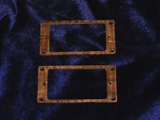 Set of 2 Humbucker Pick Up Mounting Rings Walnut Wood 5/32 in thick #127