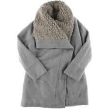Free People 4156 Womens Gray Heathered Open Front Coat Outerwear M/L BHFO