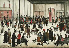 LS Lowry Framed Print – Punch and Judy (Picture Painting English Artist Artwork)