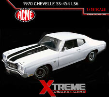 ACME A1805508 1:18 1970 CHEVROLET CHEVELLE SS-454 LS6 WHITE HARD TOP