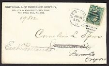 Universal Life Insurance Company Advertising Cover (-648)