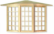 1:12 Scale 45 Pane Wooden Bay Window Deluxe Dolls House Miniature Accessory 080