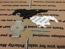 NEW FORD MUSTANG PONY SHELBY SUPER RUNNING HORSE GRILL TRUNK  BADGE AND 3M BLACK