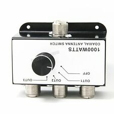 COAXIAL ANTENNA SWITCH BOX 3 Position CB RADIO COAX Antenna SWITCH 1000 W