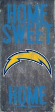 """San Diego Chargers Home Sweet Home Wood Sign 12"""" x 6"""" [NEW] NFL Man Cave Wall"""