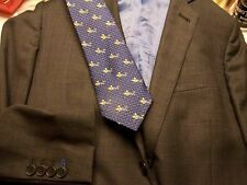 men's sz 38R Hong Kong sport coat & Thomas Pink tie rare knight on horse England