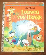 Vintage Little Golden Book LUDWIG VON DRAKE Disney 1st A Edition Donald Duck