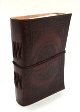 Firu - Tree of Life Handmade Paper Engraved Leather Bound Journal Blank Diary