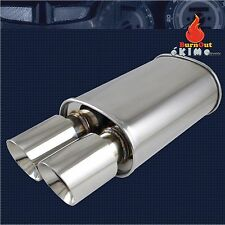 Spunlocked Exhaust Muffler Cap Dual Slant Tip Polished for Honda Civic Accord R