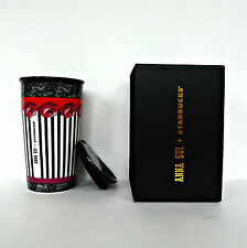 Starbucks Anna Sui Rose Stripe Tumbler Ceramic Travel Mug Double Wall Traveler