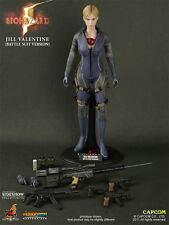 "Jill Valentine Battle Suit Version Resident Evil Biohazard 12"" Figur Hot Toys"