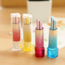 4 PCS Multiple choiceSimulation Lipstick Rubber Pencil Eraser Gift Toy For kids