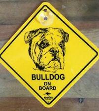 12cm Roadsign Schild mit Saugnapf  BULLDOG  Warnschild Hund