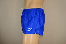 Puma Glanz Nylon Shorts!!!  Vintage Short Sporthose Blau-Gr.:M-5           (715)
