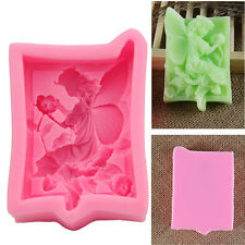 Silicone Flower Fairy Soap Mould Cake Fondant Chcolate Decorating Mold Tool DIY