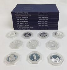 Franklin Mint 1976 Indian Tribal Series Set of 10 Coins .999 Silver w/Books
