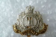 Badge- Suffolk Regiment Cap Badge- Queen's Crown (Bi-Metal,Genuine)