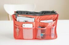 Handbag Insert Organizer Purse  Dual Storage Bag in Bag  Multi Pockets Coral TSR