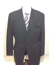 Mens CK by Calvin Klein black 3 button pinstripe suit sz 44L