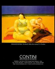 Fernando Botero:The Beach,2004-Oil Painting-Artist Exhibition Magazine Art Print