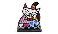 ROMERO BRITTO CAT FIGURINE  2-D   * NEW *
