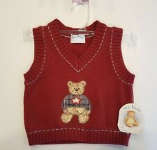 ALL MINE sweater vest NWT 6 months RED TEDDY BEAR