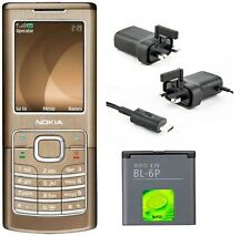 New Condition Nokia 6500 Classic Bronze Unlocked Camera Bluetooth Mobile Phone