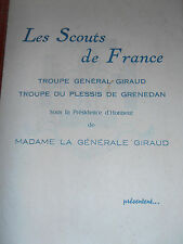 programme illusionniste - magie - scouts de France 1950 ( ref 35 )