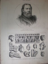James Russell Lowell new US Ambassador to UK 1880 old print