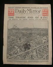 R101 Airship Disaster 1930 Daily Mirror Newspaper Report