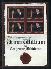 SIERRA LEONE  ENGAGEMENT OF PRINCE WILLIAM & KATE MIDDLETON  IMPERF SHEET I  NH