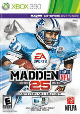 Madden NFL 25 Anniversary Edition with NFL Sunday Ticket -Xbox 360 EA Sports Vi
