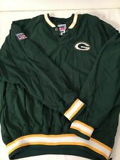 VINTAGE STARTER PRO LINE GREEN BAY PACKERS PULLOVER JACKET---NFL---SIZE M--EUC