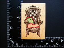 Wicker Chair By Uptown Holly Pond Hill Wood Mounted Rubber Stamp #41A