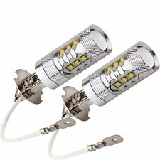 High Power 2 x H3 80W Super Bright White 6000k Cree Projector LED Fog Light DRL